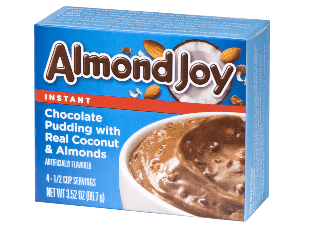 Almond Joy – Chocolate Pudding with Real Coconut & Almonds
