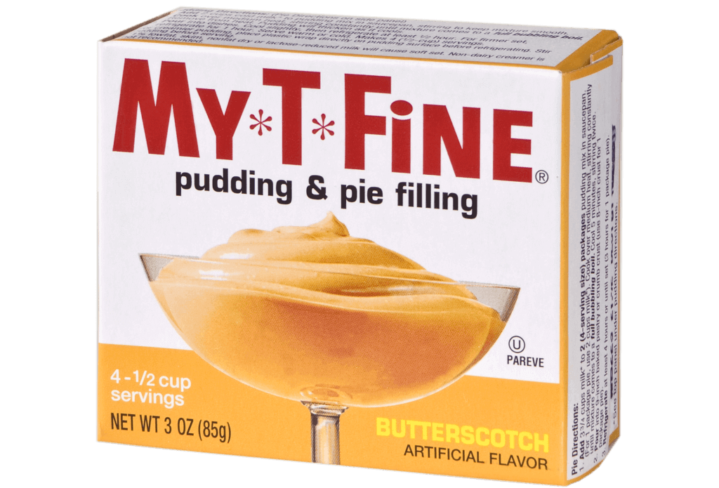 My*T*Fine – Butterscotch Cooked Pudding