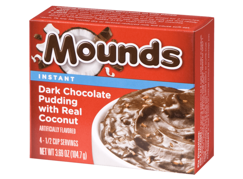 Mounds – Dark Chocolate Pudding with Real Coconut