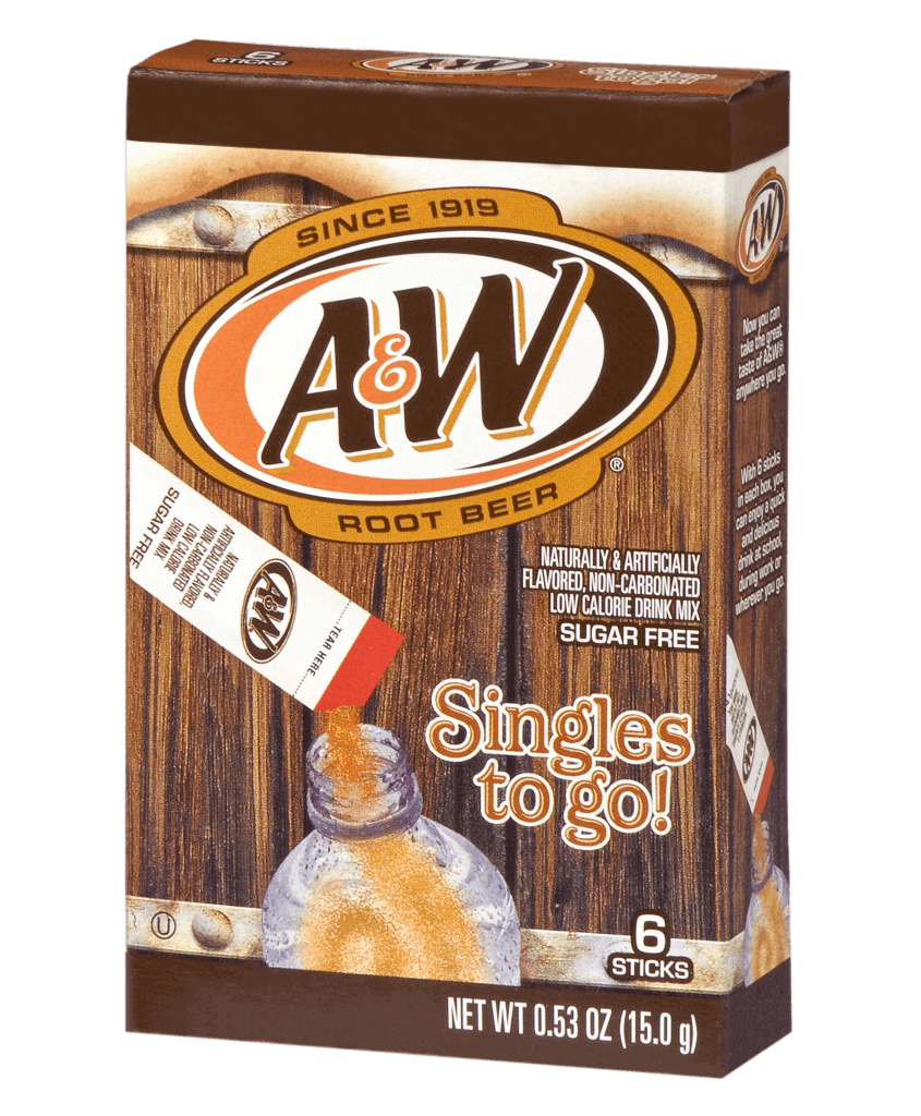 A&W Root Beer Singles To Go