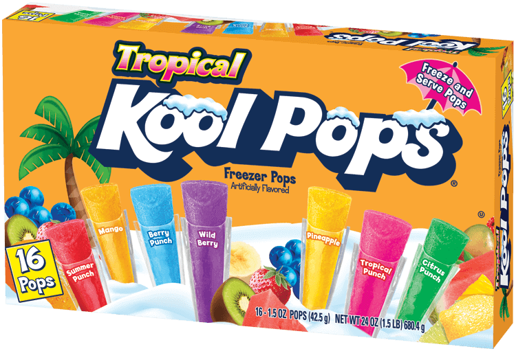 Kool Pops 16ct/1.5oz Tropical