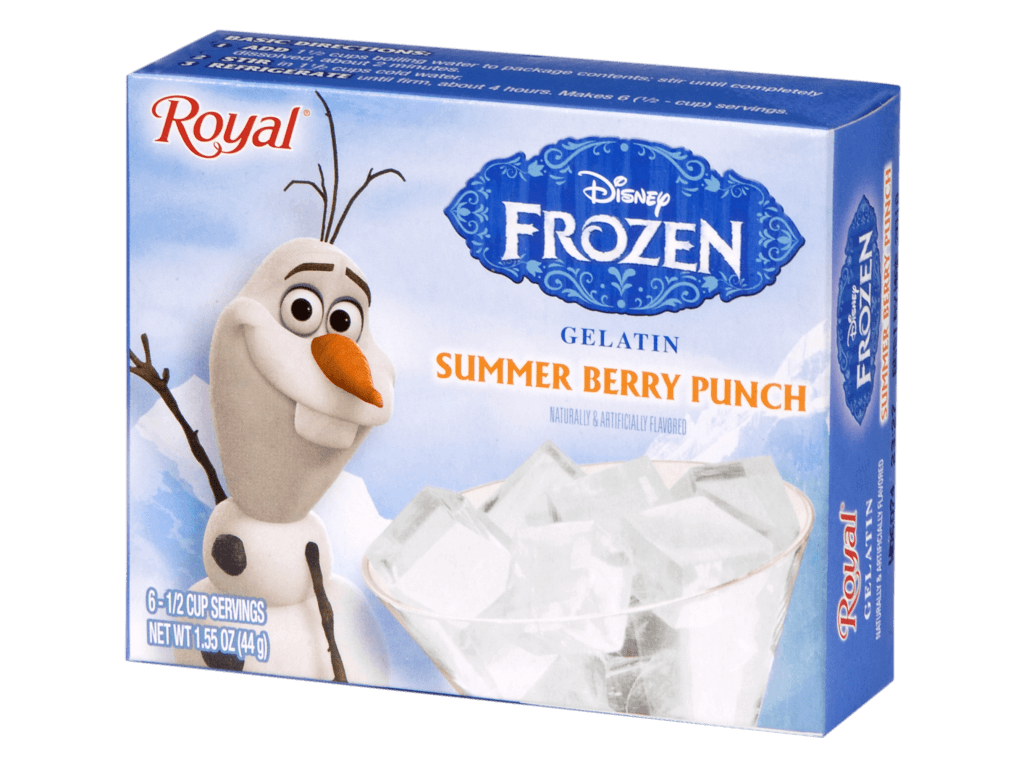 Royal Frozen Summer Berry Punch Gelatin