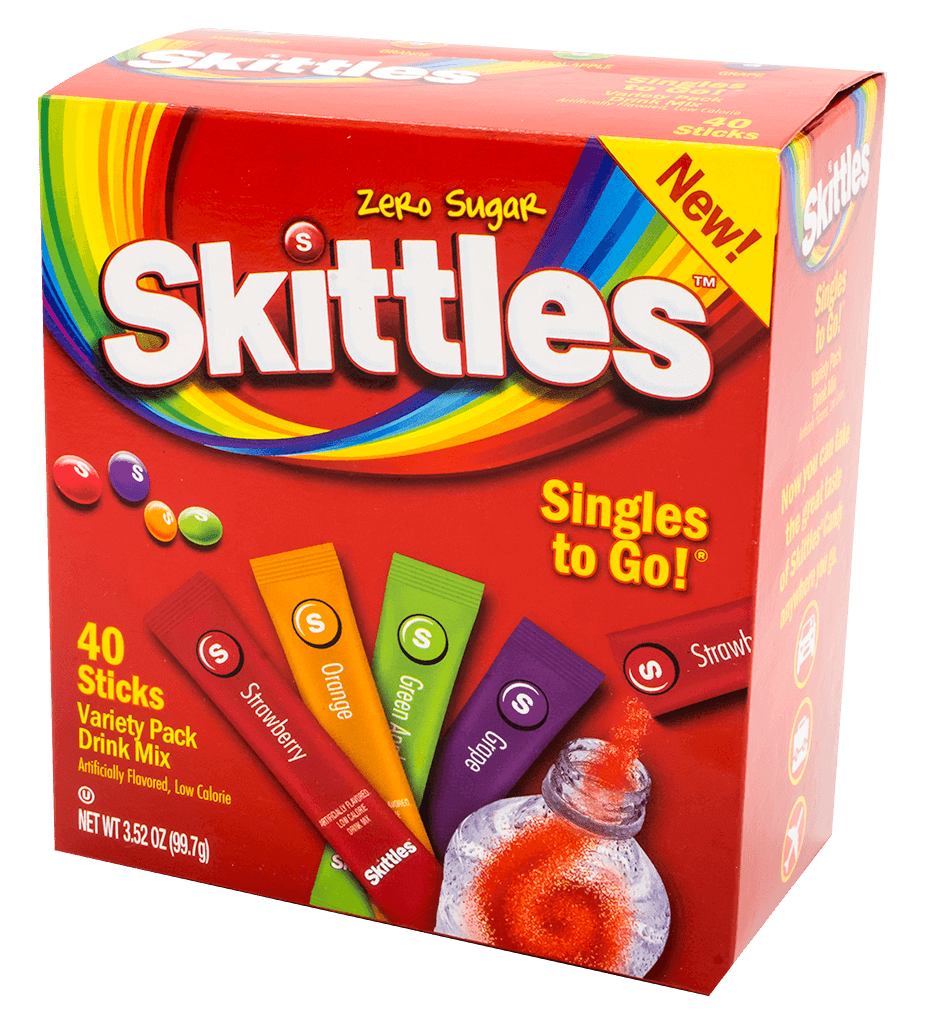 Skittles – 40ct Singles To Go Variety Pack