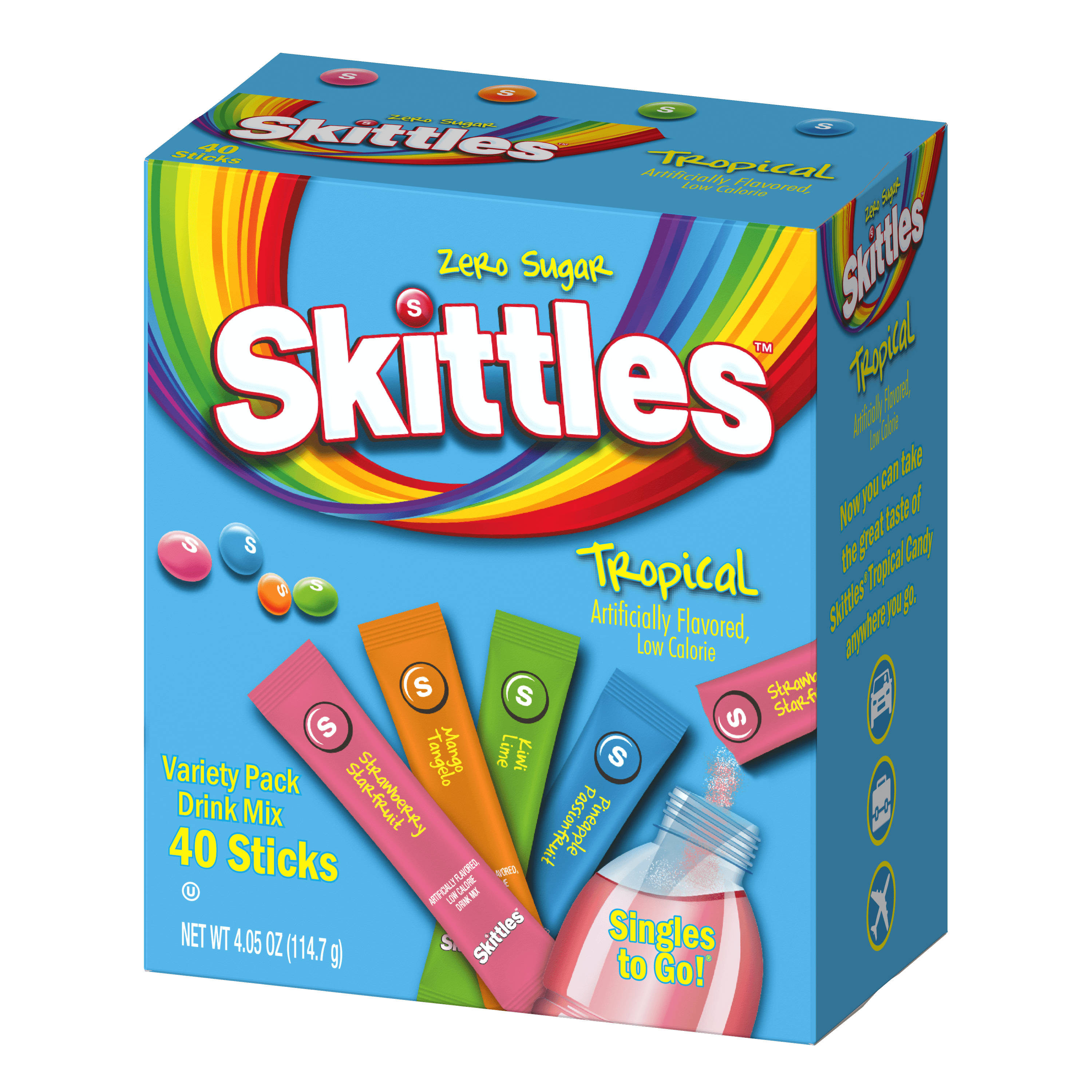 Skittles – 40ct Singles To Go Tropical Variety Pack